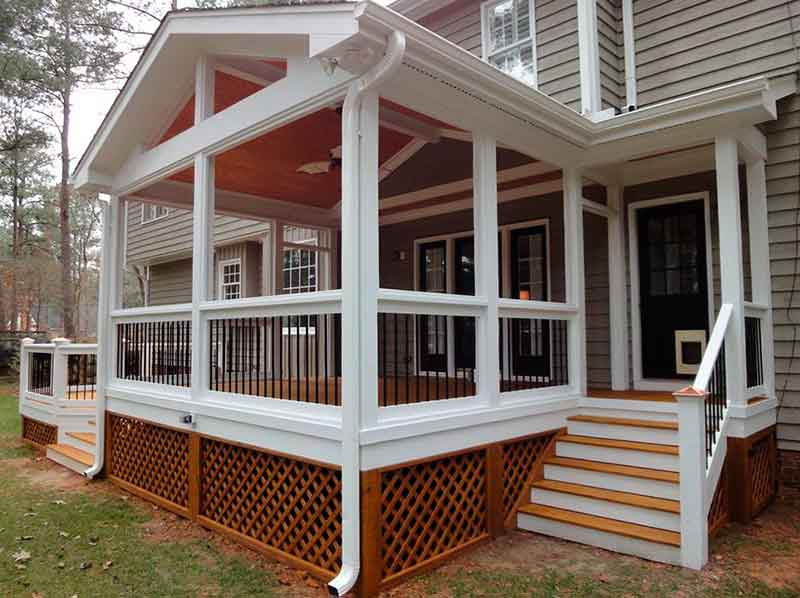 Screening porch edram general construction llc for Screen porch construction plans